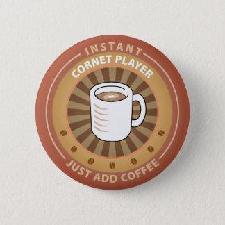 Instant Cornet Player 6 Cm Round Badge