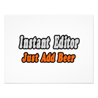 Instant Editor Just Add Beer Invite
