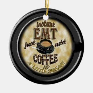 INSTANT EMT  ADD COFFEE CHRISTMAS ORNAMENT EMERGEN