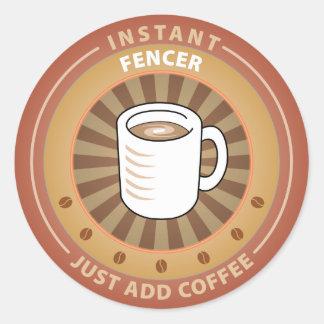 Instant Fencer Round Sticker