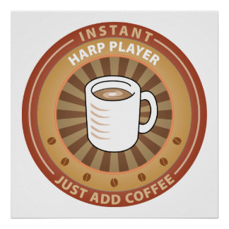 Instant Harp Player Poster