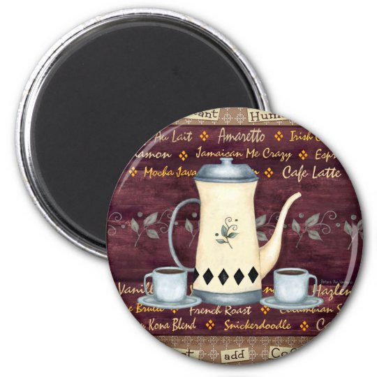 Instant Human- Just Add Coffee! 6 Cm Round Magnet