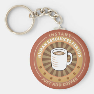 Instant Human Resources Person Basic Round Button Key Ring
