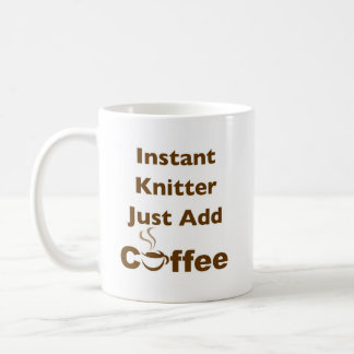 Instant Knitter Classic White Coffee Mug