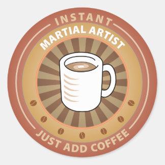 Instant Martial Artist Round Stickers