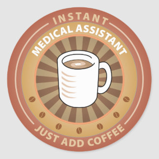 Instant Medical Assistant Round Sticker