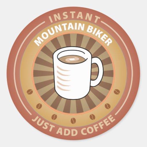 Instant Mountain Biker Round Sticker
