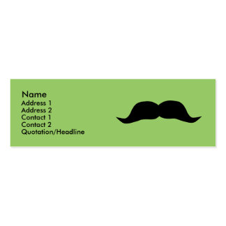 Instant Moustache Profile Cards Pack Of Skinny Business Cards