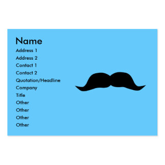 Instant Mustache Business Cards