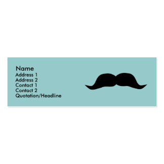 Instant Mustache Profile Cards Business Cards