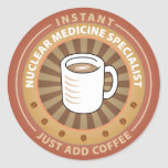 Instant Nuclear Medicine Specialist Round Stickers