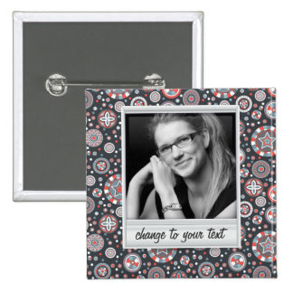 Instant photo - photoframe with pattern 15 cm square badge