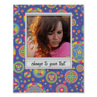 Instant photo - photoframe with pattern posters