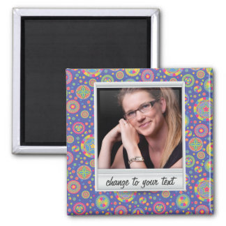 Instant photo - photoframe with pattern square magnet