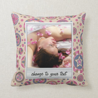 Instant photo - photoframe with pattern throw pillow