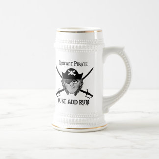 Instant Pirate Girl Beer Stein
