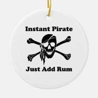 Instant Pirate Just Add Rum Christmas Ornament