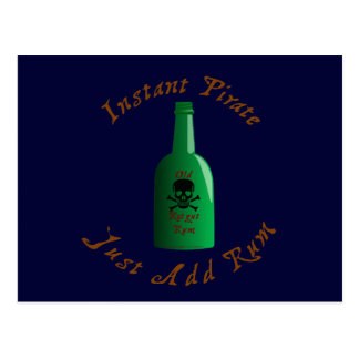 Instant Pirate Just Add Rum Postcard