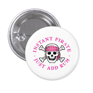 Instant Pirate Lady 3 Cm Round Badge