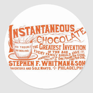 Instantaneous Chocolate! Classic Round Sticker