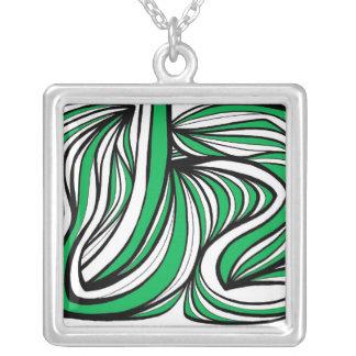Instinctive Intuitive Sensible Calm Square Pendant Necklace