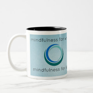 Institute for Mindful Works Logo Gear Two-Tone Coffee Mug