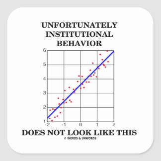 Institutional Behavior Does Not Look Like This Square Sticker