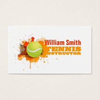 Instructional tennis business card