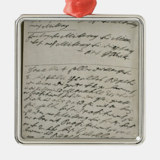 Instructions issued by Friedrich Wilhelm I Silver-Colored Square Decoration