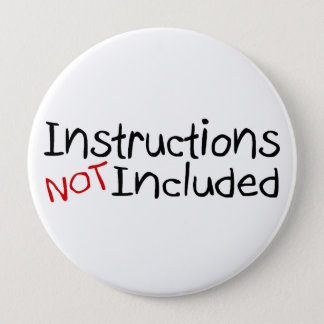 Instructions Not Inlcuded 10 Cm Round Badge