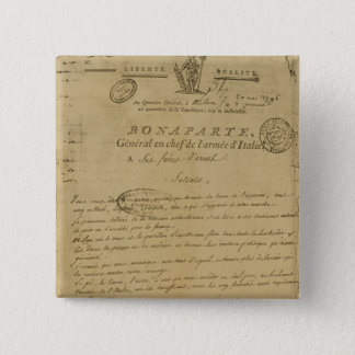 Instructions to soldiers issued by Napoleon 15 Cm Square Badge