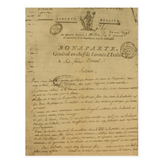 Instructions to soldiers issued by Napoleon Postcard
