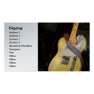 Instrument - Guitar - Playing in a band Business Cards