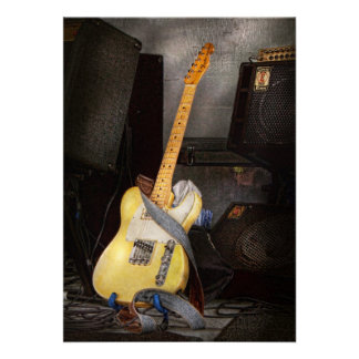 Instrument - Guitar - Playing in a band Custom Invitations