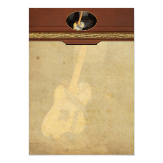 """Instrument - Guitar - Playing in a band 5"""" X 7"""" Invitation Card"""
