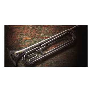 Instrument - Horn - The bugle Personalized Photo Card