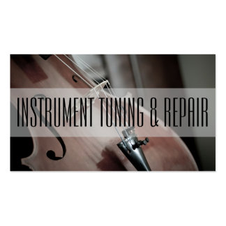 Instrument Tuning & Repair Music Instructor Pack Of Standard Business Cards