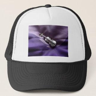 Instrumental purple trucker hat