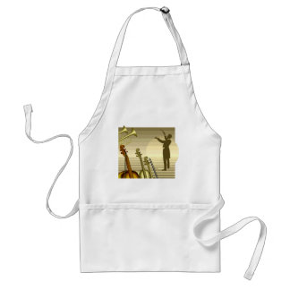 Instruments and Orchestra Conductor Standard Apron