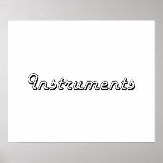 Instruments Classic Retro Design Poster