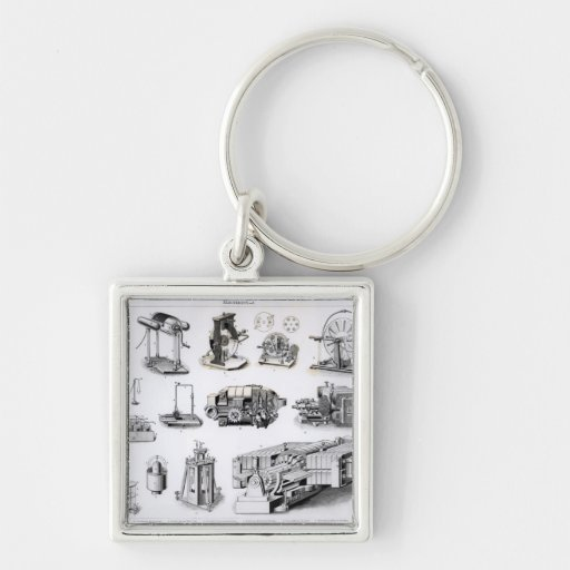 Instruments to  Discovery and Use of Silver-Colored Square Key Ring