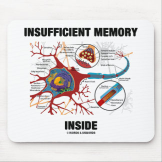 Insufficient Memory Inside (Neuron / Synapse) Mouse Pad