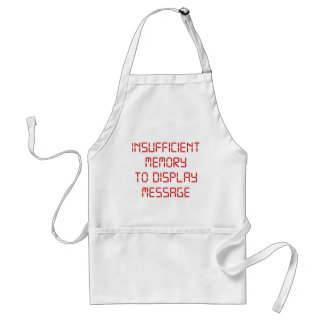 Insufficient Memory To Display Message Apron