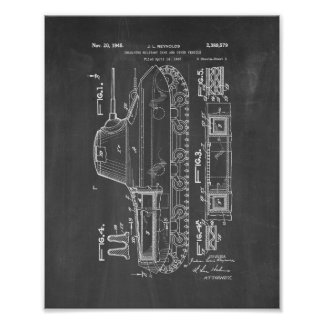 Insulated Military Tank Patent - Chalkboard Poster