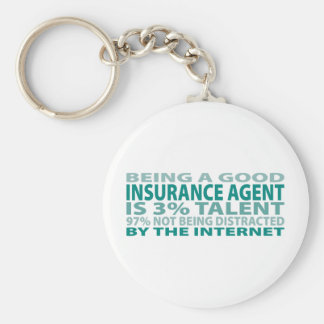Insurance Agent 3% Talent Key Ring