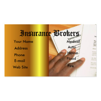 Insurance agent business card templates