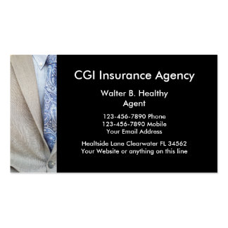 Insurance Agent Business Cards
