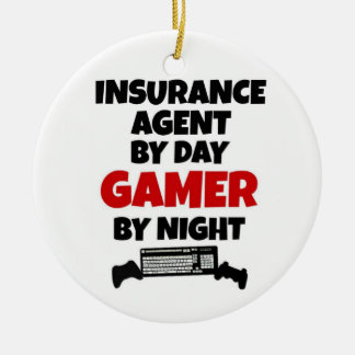 Insurance Agent by Day Gamer by Night Christmas Ornament