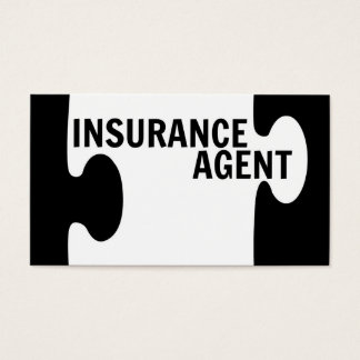 Insurance Agent Puzzle Piece Business Card
