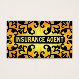 Insurance Agent Sunshine Damask Business Card